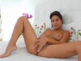 Y lo mucho que le gusta a mi hermana tocarse en la webcam - Masturbaciones
