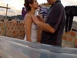 Latina guarrona se deja follar en la azotea a la vista de todos