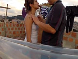 Latina guarrona se deja follar en la azotea a la vista de todos - Español