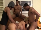 Nikki Sexx en un gangbang lleno de pollas negras - Interracial