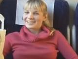Rubia chupando polla y teniendo sexo en el vagón del tren - Amateur